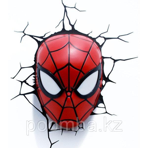 """Светильник 3D deco light - """"Лицо человека паука"""""""
