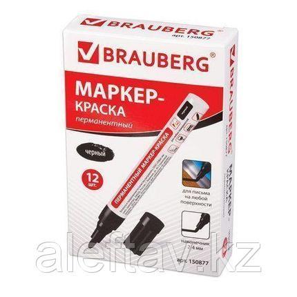 """Маркер перманентный """"Brauberg"""", 2-4 мм, нитро-основа, алюминиевый корпус, фото 2"""