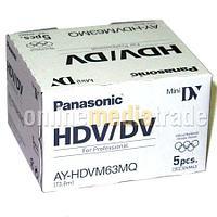 Кассеты miniDV HDV DVC PANASONIC AY-HDVM63MQ 1080p, фото 1