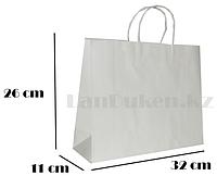 Подарочный пакет белый (для брендирования)26х32х11см