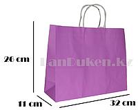 Подарочный пакет фиолетовый(для брендирования) 26х32х11см