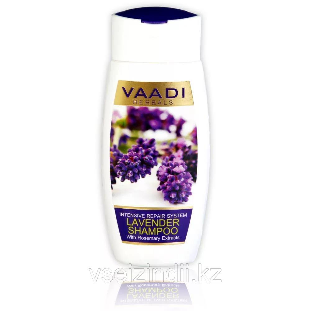 Шампунь для интенсивного восстановления волос Лаванда и Розмарин 350 мл, Vaadi Herbals Lavender Shampoo