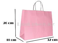 Подарочный пакет розовый (для брендирования) 26х32х11см