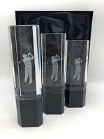 Комплект кубков для гольфа из хрусталя с гравировкой