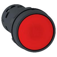 XB7NA42 Кнопка 22 мм красная с возвратом NO+NC