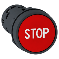 XB7NA4534 Кнопка 22 мм красная НО+НЗ С МАРКИР STOP