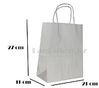 Подарочный пакет белый (для брендирования) 27х21х11см