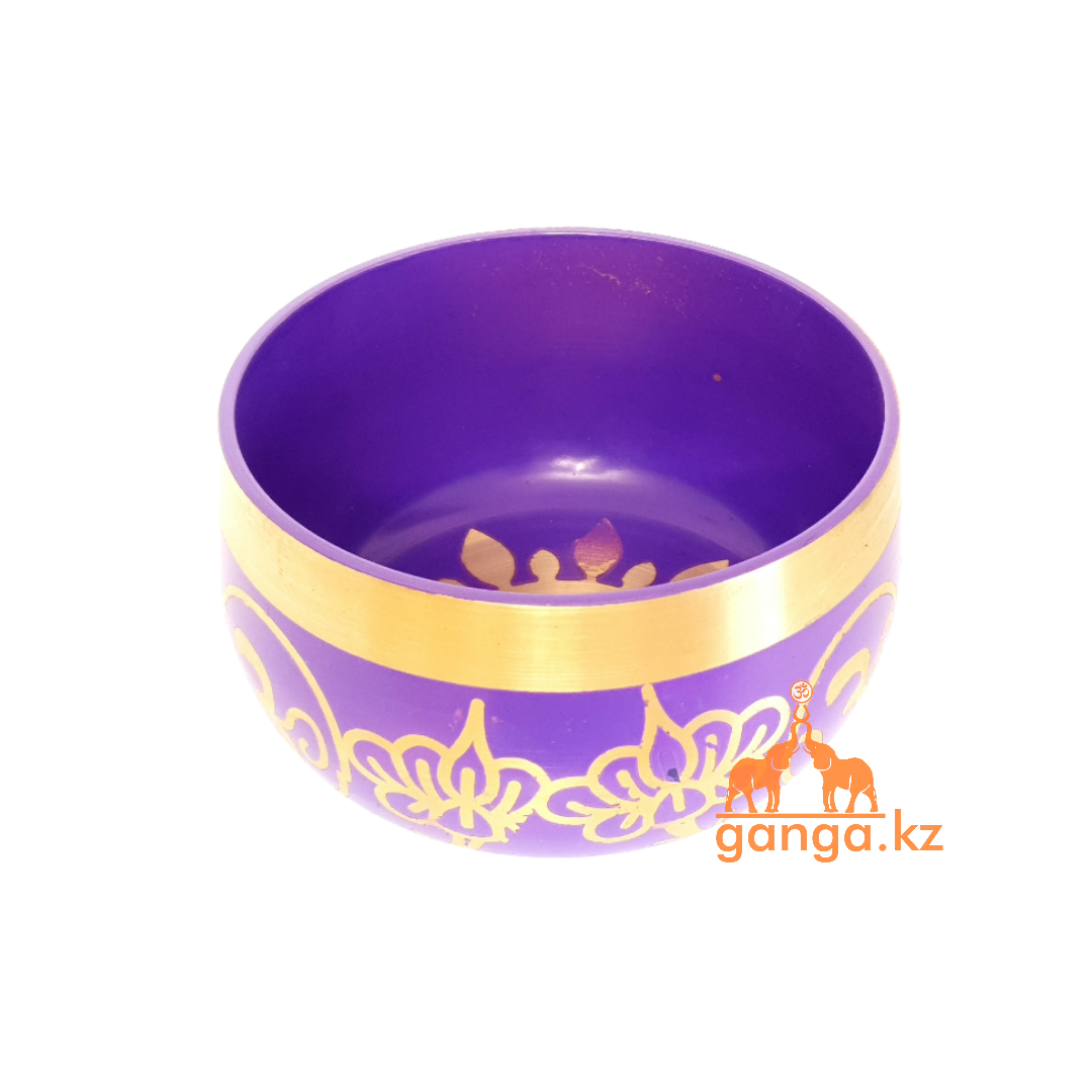 Поющая чаша Фиолетовая, диаметр 11.5 см