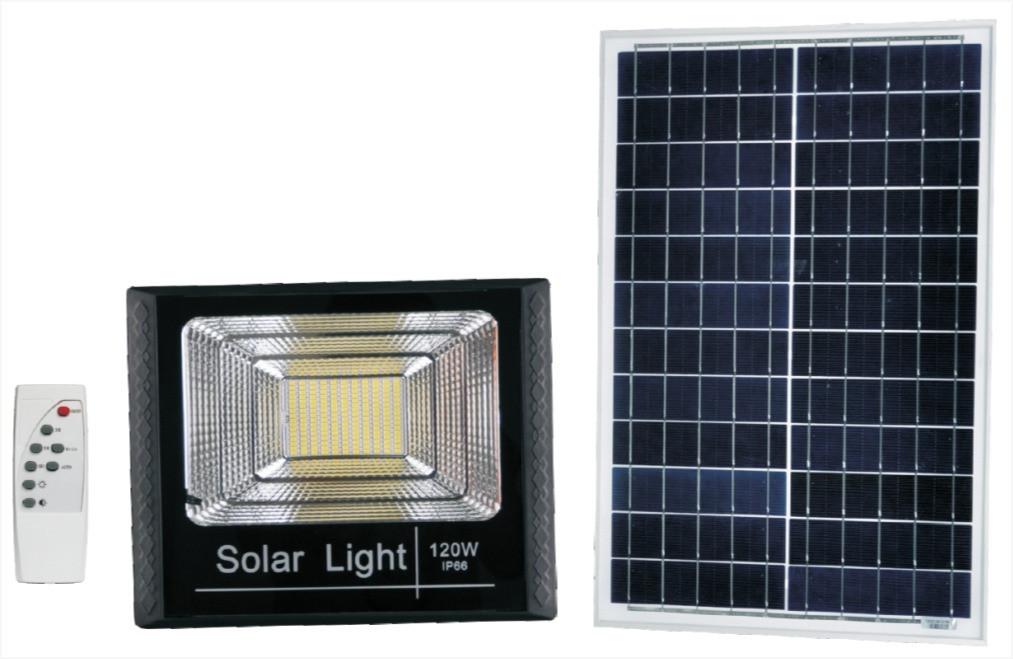 Прожектор на солнечной батарее 120W
