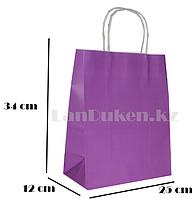 Подарочный пакет фиолетовый (для брендирования) 34х25х12см