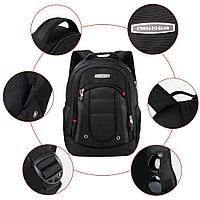 Рюкзак Cross Gear с USB-портом для зарядки Сумка для ноутбука и кодовый замок - подходит для большинства 15,6-