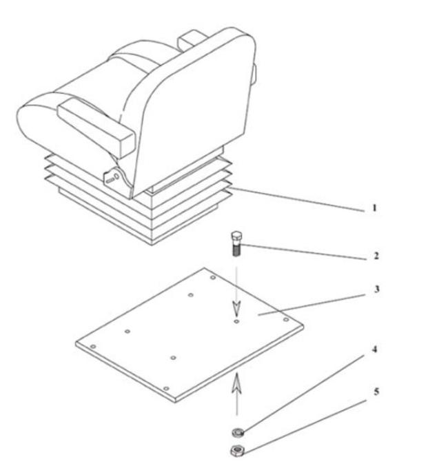 Сиденье ТВС 103АН (с подлокотниками)
