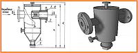 Вертикальный грязевик типа ЭнКо ТС 569 (полная комплектация), DN50