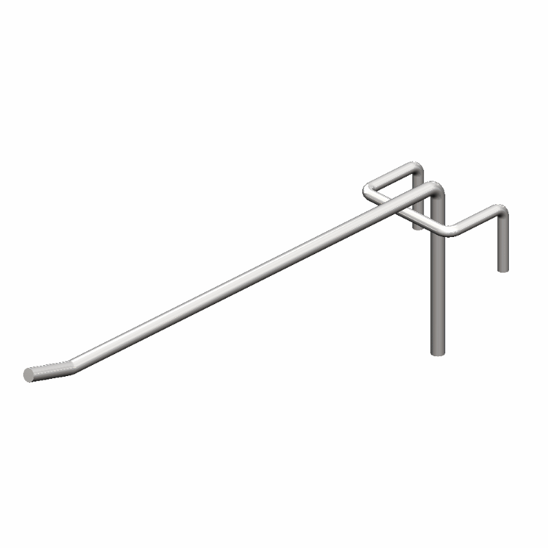 Крючок торговый одинарный (4х500 мм) цинк арт. is54 1/4-500