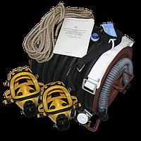 Противогаз шланговый ПШ-1Б (БРИЗ-0303) шланг ПВХ с 2-мя масками ППМ-88