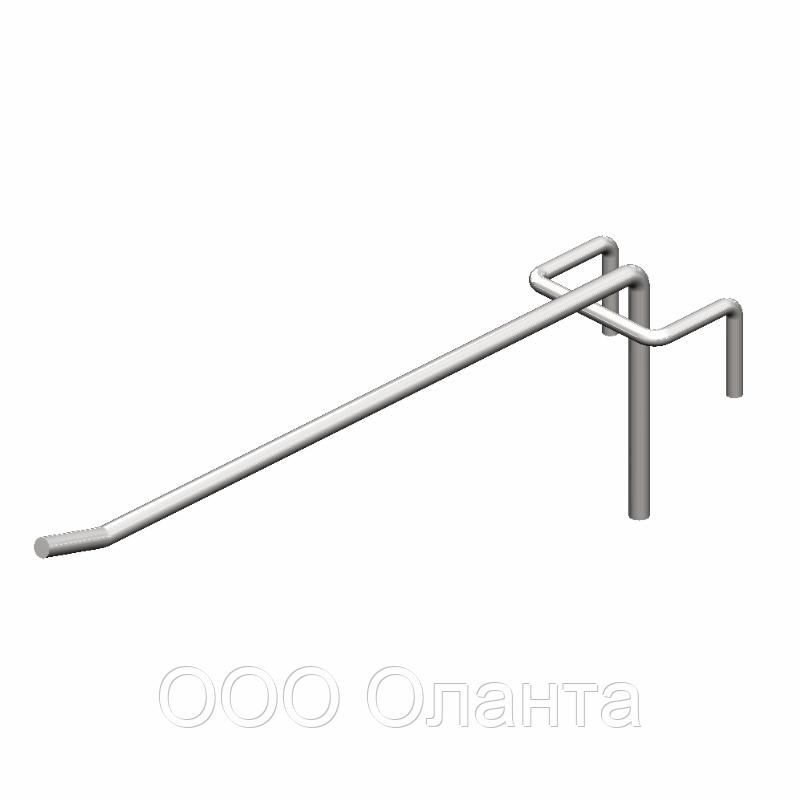 Крючок торговый одинарный (5х250 мм) цинк арт. is54 1/5-250