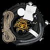 Противогаз шланговый БРИЗ-0302 (ПШ-20С) шланг АМС ПВХ с 1-ой маской ППМ-88