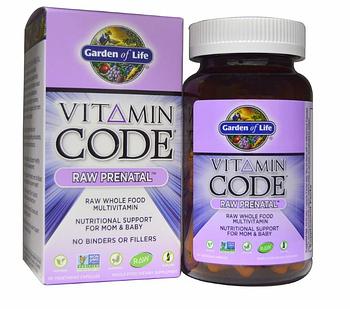 Garden of Life, Vitamin Code, Raw Prenatal, 90 вегетарианских капсул