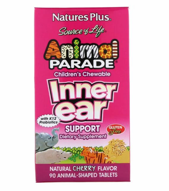 Nature's Plus, Source of Life, Animal Parade, детские жевательные таблетки для поддержания здоровья внутреннег