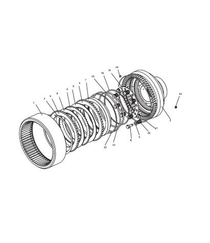 Ремкомплект уплотнений на колесный редуктор У2210.20Н-2-05.000