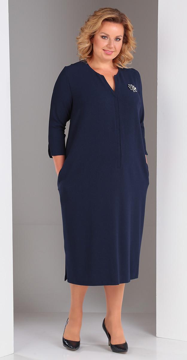Платье Novella Sharm-3269-с, темно-синий, 66