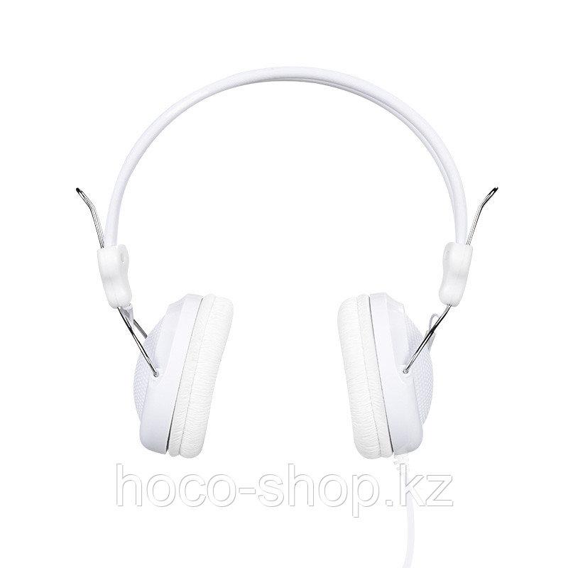 Проводные большие наушники Hoco W5 Manno, White