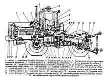 Вал карданный 2256010-22.04.000 (Завод) промежуточной опоры К744