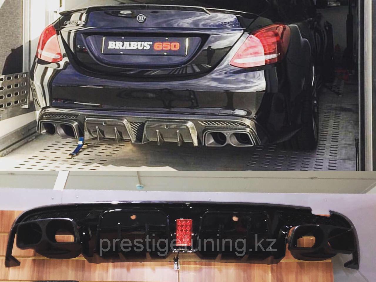 Задний диффузор Brabus карбон на Mercedes-benz E-class W213
