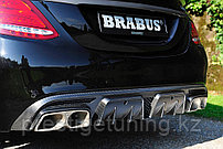 Задний диффузор Brabus на Mercedes-benz W205 карбон