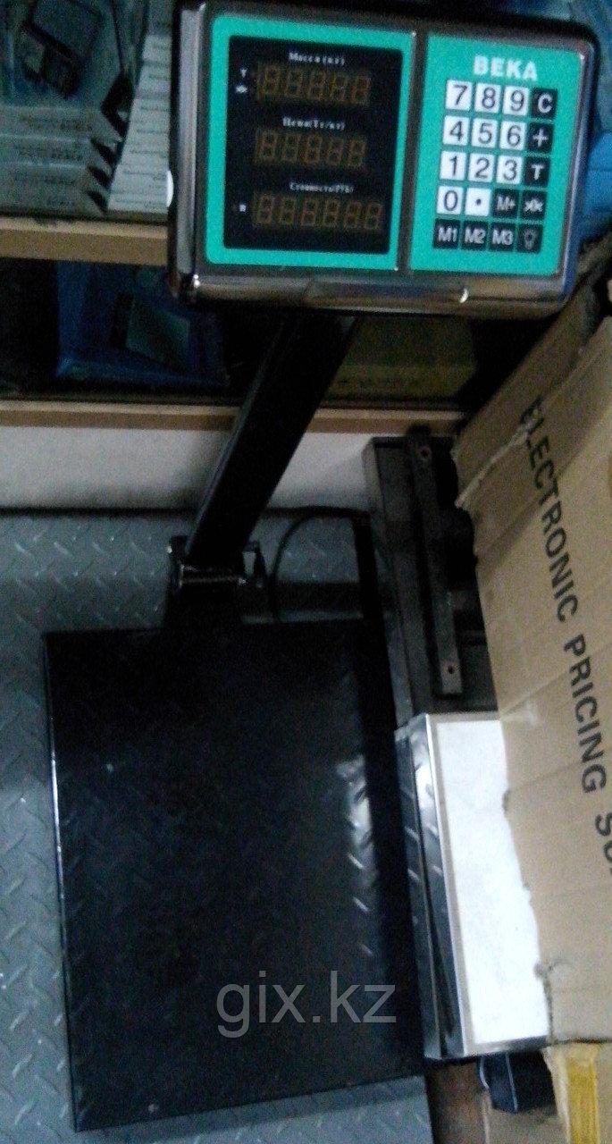 Весы торговые, платформенные, напольные до 600 кг. (50х60)