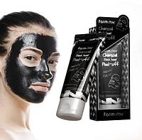 Маска-пленка  Charcoal Black Head Peel-Off Nose Pack 60 g.(Farm Stay)
