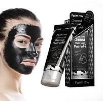 Маска-пленка  Charcoal Black Head Peel-Off Nose Pack 60 g.(Farm Stay)
