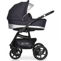 Детская коляска RIKO ALFA BASIC Ecco 2 в 1 (графит/серый)