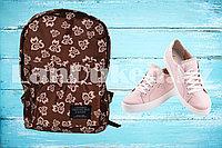 Рюкзак с боковыми карманами Living traveling share, коричневый с узорами