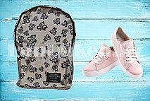 Рюкзак с боковыми карманами Living traveling share, кремовый серый с узорами