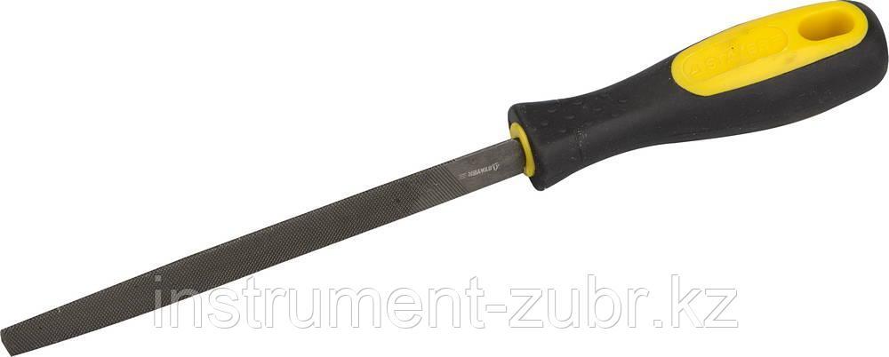 """Напильник STAYER """"PROFI"""" трехгранный, с двухкомпонентной рукояткой, для заточки ножовок, 150мм"""