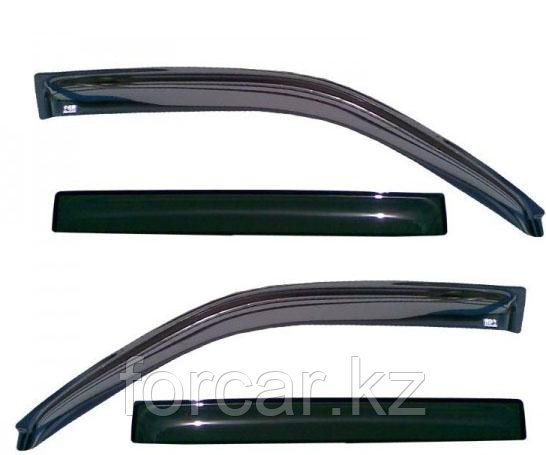 Дефлекторы боковых окон 4 части темные EGR для Toyota Corolla 2006-