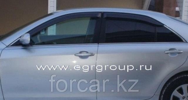 Дефлекторы боковых окон EGR для  Camry 40   2006- (темные, карбон), фото 2
