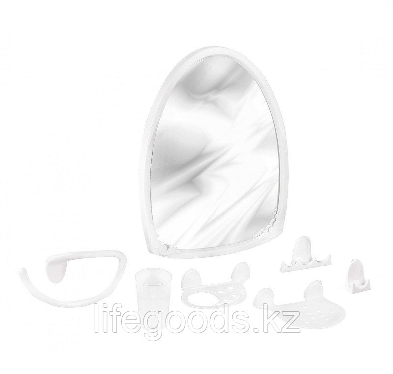 "Набор для ванной комнаты ""Аква"" №3 белый цвет"