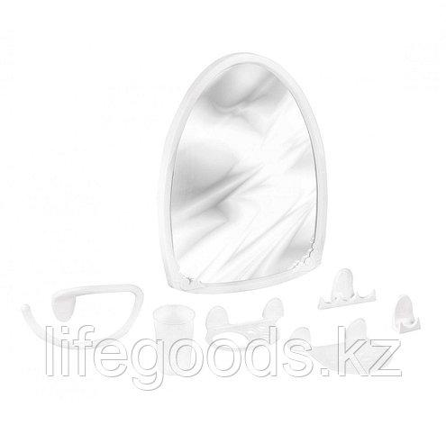 """Набор для ванной комнаты """"Аква"""" №3 белый цвет, фото 2"""