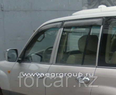 Дефлекторы боковых окон EGR 4 части карбон Toyota Land Cruiser 100 1998-2007, фото 2