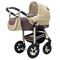 Детская коляска 2 в 1 Bart-Plast Bari (03 коричневый-бежевый)