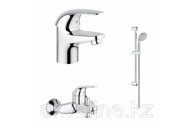 Euroeco Комплект смесителей с душем смеситель для ванны, раковины, душевой гарнитур