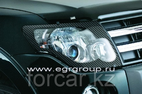 Дефлектор капота EGR карбон Mitsubishi Pajero IV   2007-, фото 2