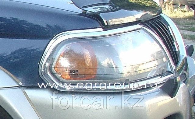 Защита передних фар EGR прозрачная Mitsubishi Pajero Sport 2000-2007