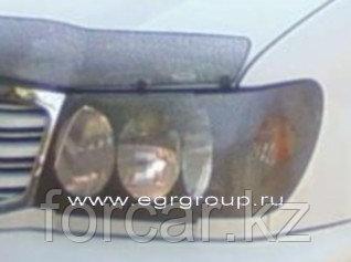 Защита передних фар EGR карбон Mitsubishi Pajero Sport 1997-2002, фото 2