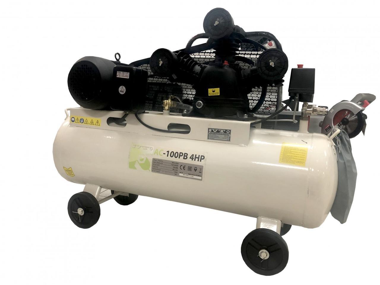 Воздушный компрессор IVT AC-100PB 4HP - 100 литров