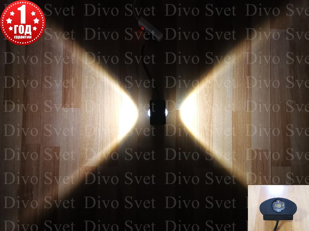 Led светильник фасадный линзованый 2w, декоративный. Светодиодный архитектурный прожектор 2w на стену.