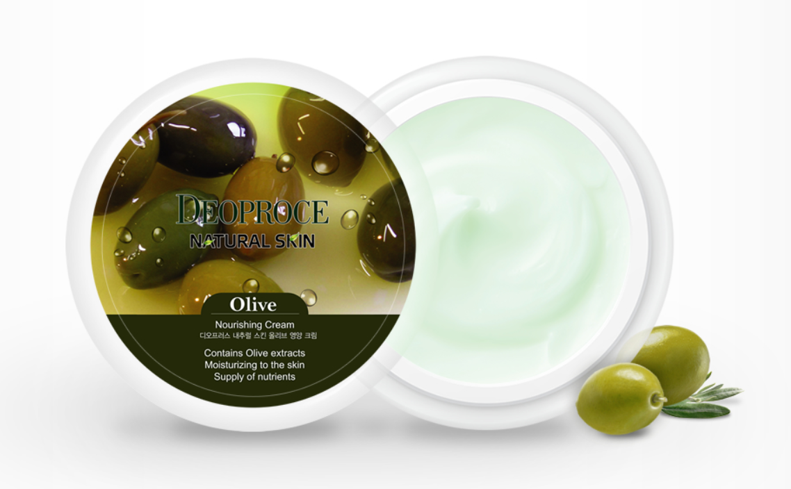 Крем для лица Deoproce Olive Natural Skin Nourishing Cream 100g.