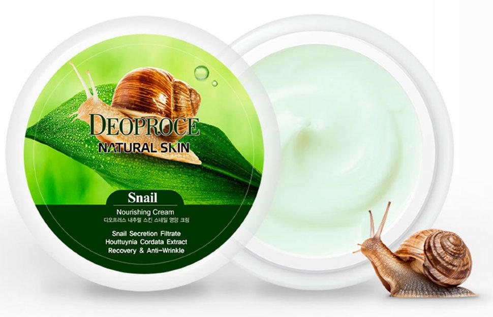 Крем для лица Deoproce Snail  Natural Skin Nourishing Cream 100g.